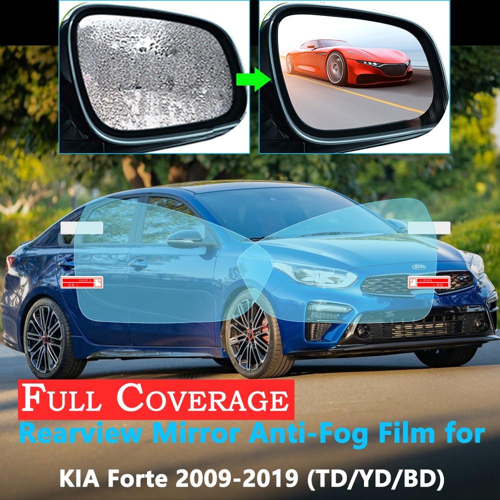 Capa completa película protetora para kia forte 2009 ~ 2019 espelho retrovisor do carro à prova de chuva anti-nevoeiro acessórios 2018 2017 cerato k3 vivaro
