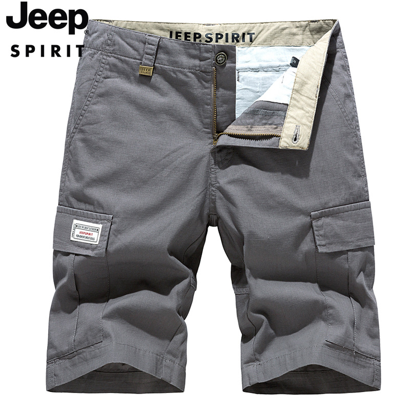 JEEP New Casual Shorts Spring And Summer Multi-pocket Pants Outdoor Loose Overalls Fashion Five-point Pants