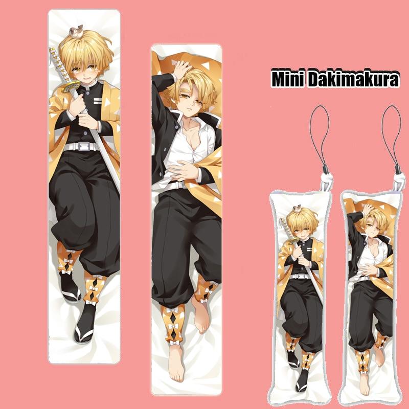 Demon Slayer: Kimetsu No Yaiba Anime Mini Dakimakura Keychain Nezuko Tomioka Giyuu Pillow Hanging Ornament Phone Strap Gift