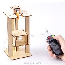 Crianças diy kit elevador ciência experimento invenções haste brinquedos tecnologia projeto de construção eletrônica para a escola crianças menino