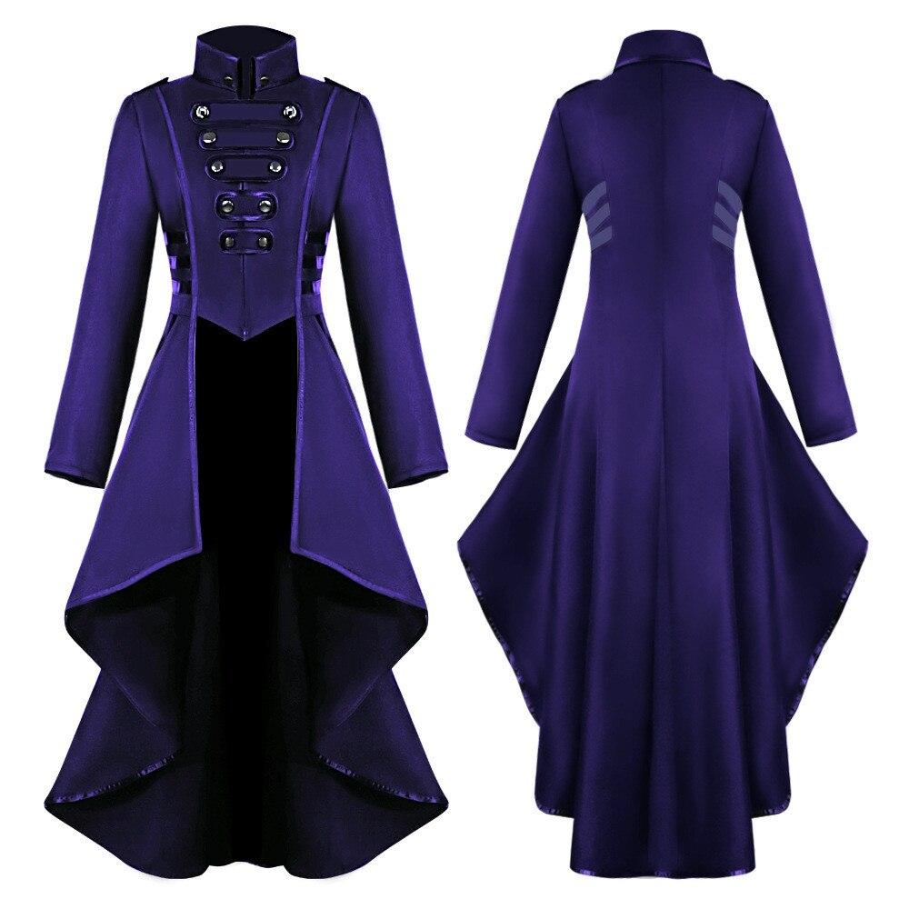 H4cffc6aa77de4a098b4cca17240d8b159 Women Halloween Jackets Gothic Steampunk Button Lace Corset Casual Halloween Costume Coat Tailcoat Jacket dropshipping
