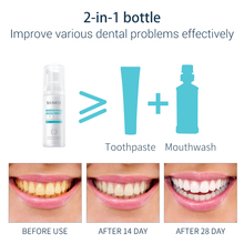 BAIMISS Fresh Shining Tooth-Cleaning Mousse Toothpaste Teeth Whitening Oral Hygiene Removes Plaque Stains Bad Breath Dental Tool