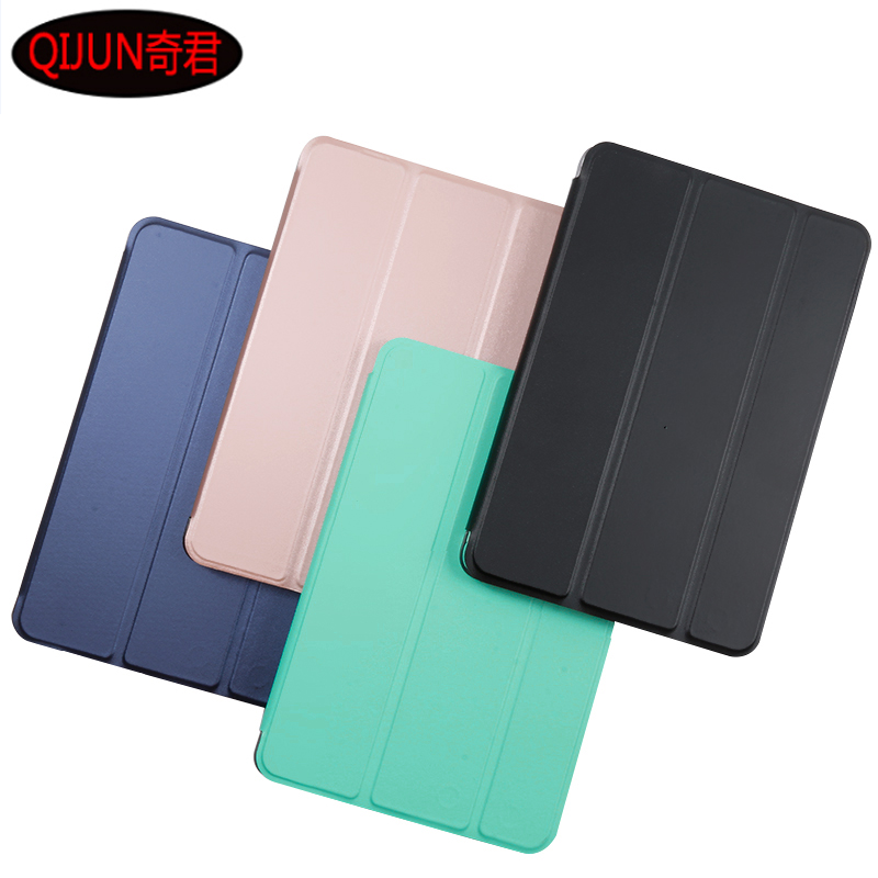 Cover For Xiaomi Mi Pad 4 MiPad4 Mipad 4 8.0 Inch Tablet Case PU Leather Smart Sleep Tri-fold Bracket Cover