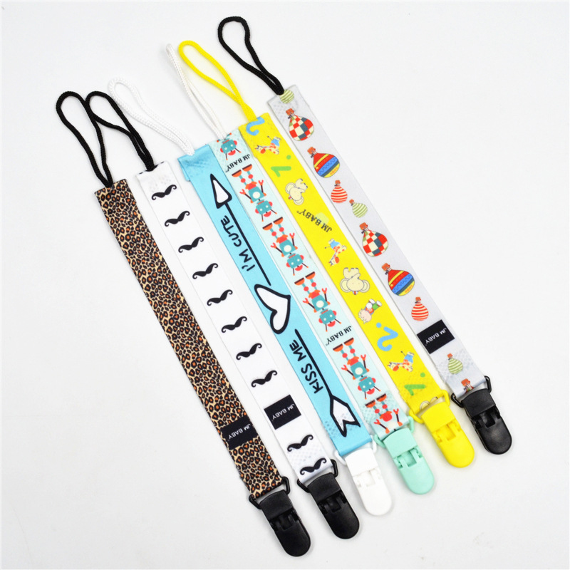 1pcs Baby Pacifier Clip Ribbon Chain Dummy Holder Chupetas Soother Nipple Holder For Infant Pacifier Clips Leash Strap J0161