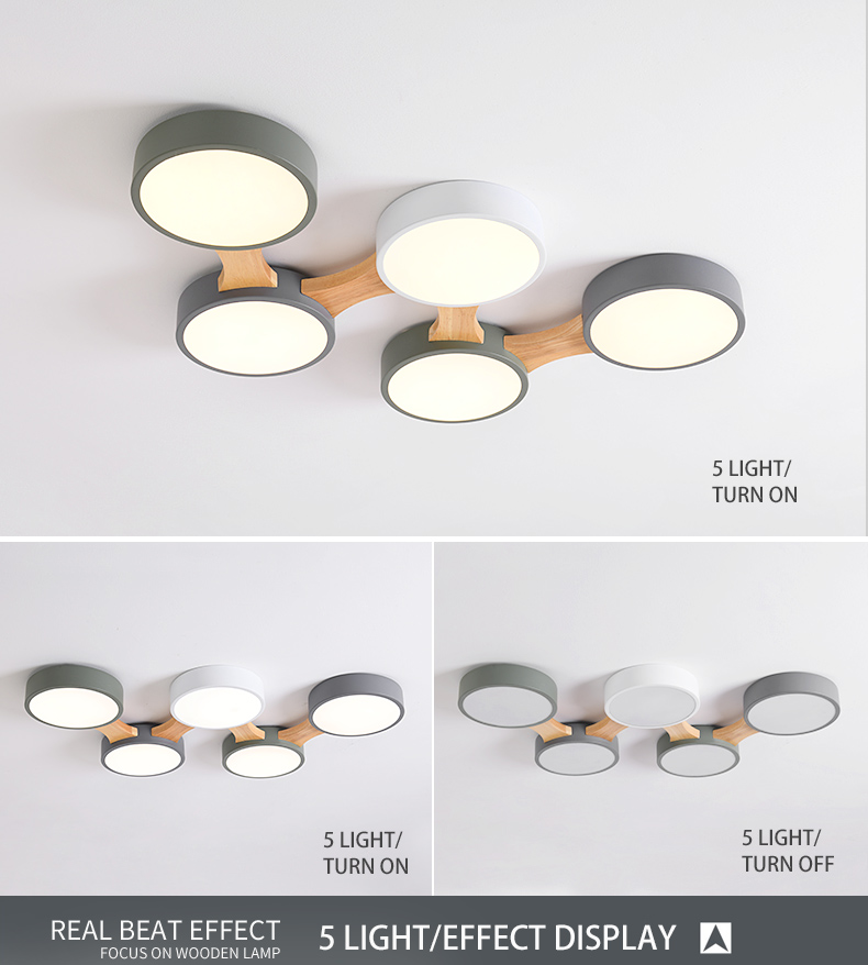 H4d00014bff1f428fbe80ab0e777dbcd0i BOTIMI 220V LED Ceiling Lights With Round Metal Lampshade For Living Room Modern Surface Mounted Ceiling Light Wood Bedroom Lamp