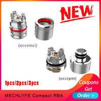 1 stücke/2 stücke/3 stücke Elektronische Zigarette KOMPAKTE RBA Zerstäuber Kerne 510 gewinde design Coil Kopf für rpm pod/vinci pod