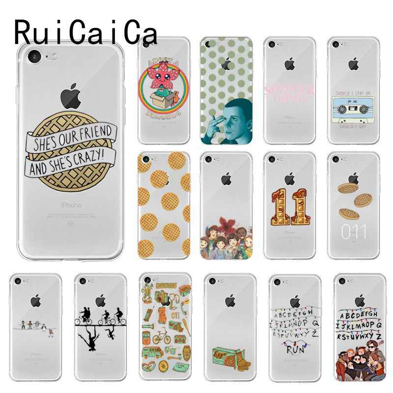 RuiCaiCa Stranger Things Christmas Lights DIY Luxury Case for iPhone 8 7 6 6S Plus 5 5S SE XR X XS MAX 10 Coque Shell