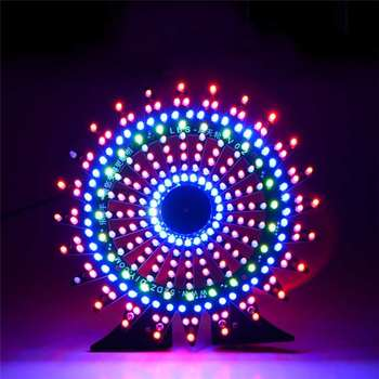 Noria modelo de espectro musical DIY Kit electrónico 51 de un solo chip colorido LED Flash Kits lámpara led nocturna Accesorios