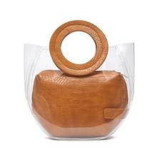 Fashion Women Brand Design Small Handbags Transparent Composite Bags Versatile Totes