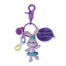 2020 New Sweet Cartoon Girl Heart Rabbit And Bear Doll Keychains Popular Key Chain Bag Pendant Gift Ring