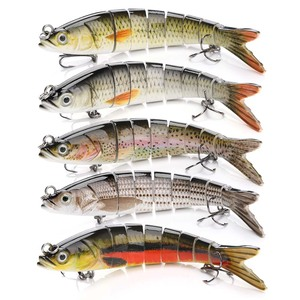 Image 5 - 13.7cm 26g Pike Wobblers Fishing Lures Sinking 8 Segments Multi Jointed Artificial Bait Hard Swimbait Crankbaits Fishing Tackle