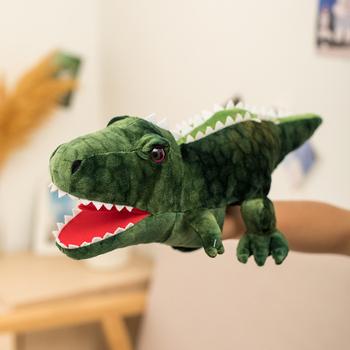 Nowa seksowna kreskówka ładne pluszowe dinozaury lalki wypchane pluszowe zabawki rekin delfin żółw smok pacynka na rękę ze zwierzęciem Comfortale tanie i dobre opinie no fire 3 lat A-2130 Unisex
