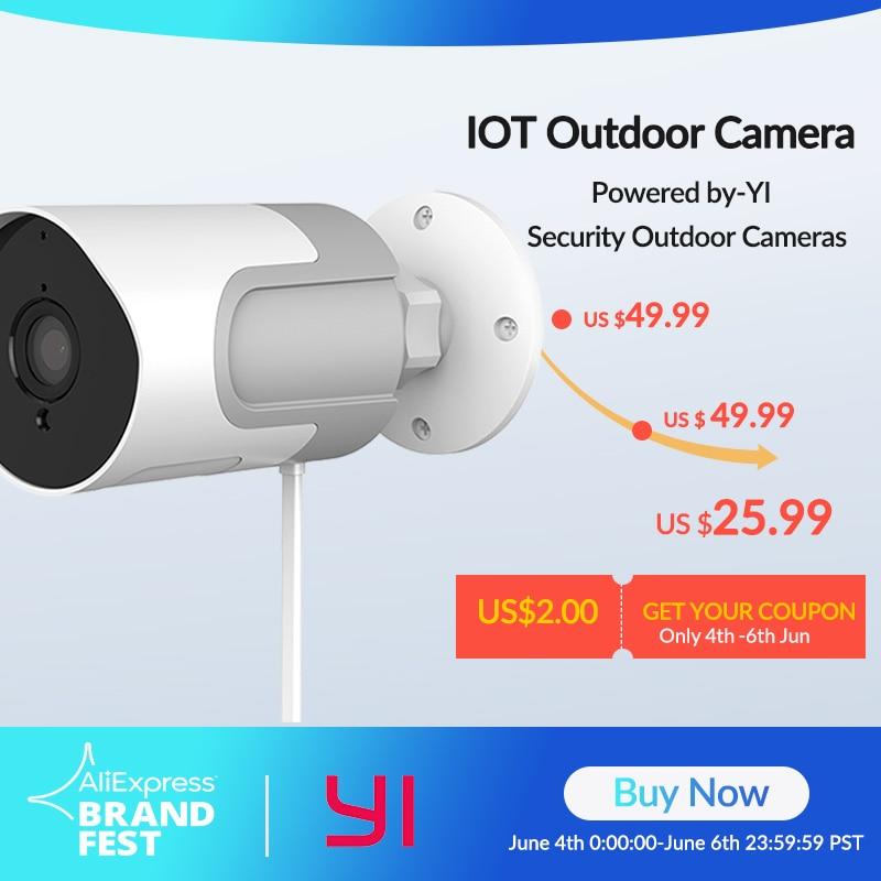 YI çok açık IP kamera tam HD 1080p SD kart güvenlik gözetleme kamerası hava koşullarına dayanıklı gece görüş YI bulut YI IOT uygulaması Gözetim Kameraları    - AliExpress