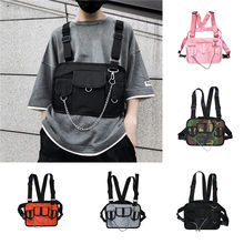 Crossbody tasche Unisex Tactical Multi-funktion Funktion Brust Tasche Strap Weste Tasche Rucksack bolso de mujer bimba y lola crossbody(China)