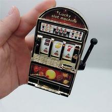 1pc mini caça-níqueis máquina de bolso frutas sorte jackpot gadget anti-stress brinquedos engraçados jogos brinquedos crianças presentes de aniversário