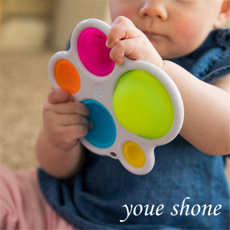 Baby Toys Exercise Board Rattle Puzzle Toys Colorful Intelligence Development Board Early...