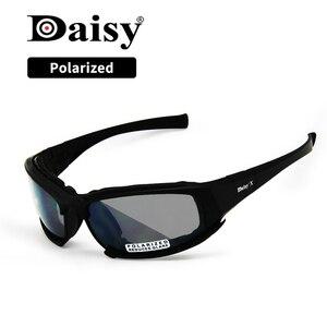 Image 1 - Übergang Photochrome Polarisierte Daisy X7 Military Brille Armee Sonnenbrille 4 Objektiv Kit Krieg Spiel Taktischen männer Gläser Sport