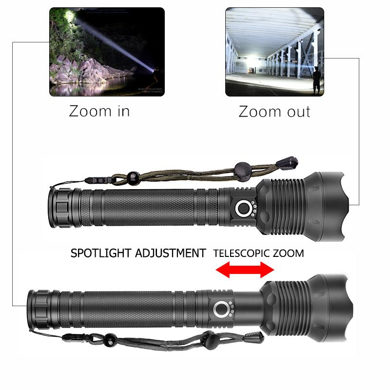 High Lumens Lamp Xhp50 Xhp70.2 Most Powerful Defense Flashlight Usb Zoom Led Torch 18650 Or 26650 Rechargeable Battery Hunting