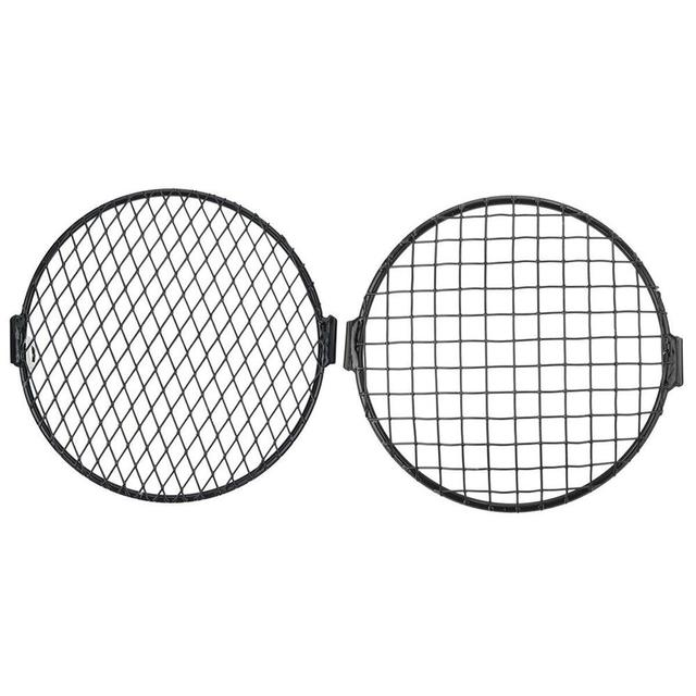 7'' Motorcycle Headlight Metal Mesh Grill Mask Protector Guard Side Mount Cover For Honda 1