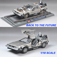 1/18 Scale Metal Alloy Car Diecast Model Part 1 2 3 Time Machine DeLorean DMC 12 Model Toy Welly model Return to the future
