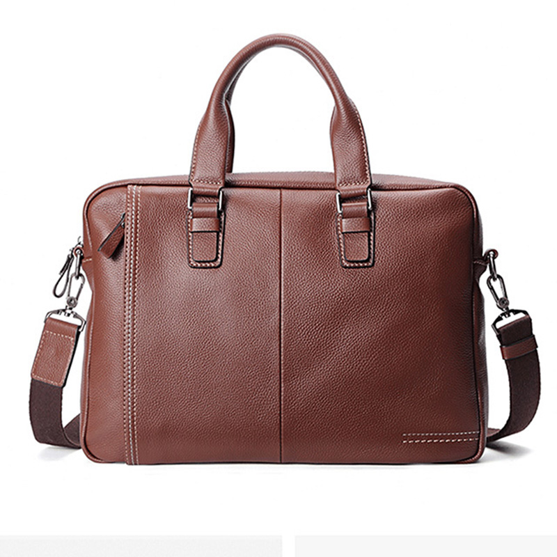 Men Handbags High Quality Men Business Genuine Cow Leather Casual Bag Real Leather Luxury High Quality Briefcase