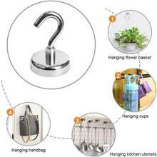 10 sztuk neodymowe magnetyczne haki potężny Heavy Duty magnetyczne przyssawki hak ścienny magnes na noże domu kuchnia miejsce pracy