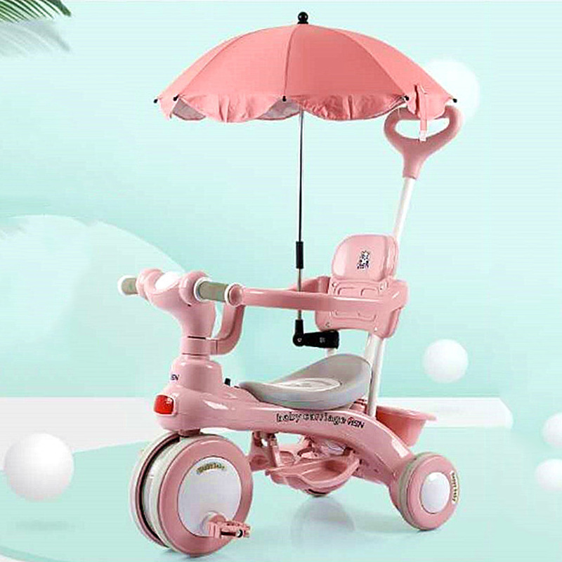 Children's Tricycle Pedals 1-3 Years Old Children's Tricycle Trolley Strolling Baby Artifact Baby Stroller Hot Mom Baby Bike