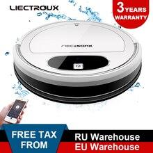 Liectroux 11S Roboter Staubsauger, WiFi App, Gyroskop & 2D Karte Navigation, elektrische Steuerung Luftpumpe Wasser Tank, Nass Trocken Reinigung