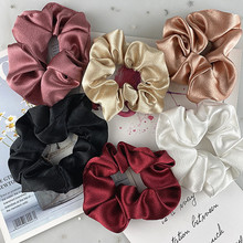 2 pçs/set 3.54 polegada cetim seda scrunchie para as mulheres cor sólida elástico bandas de cabelo menina moda rabo de cavalo titular corda acessórios