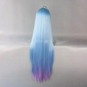 Image 5 - Hairjoy cabelo sintético shiro de nenhum jogo sem vida azul roxo misturado longa reta peruca cosplay frete grátis