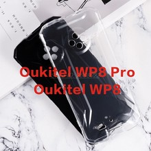 Macio preto tpu caso para oukitel wp8 wp8pro silicone caso de telefone transparente para estuches oukitel wp8 pro capa traseira