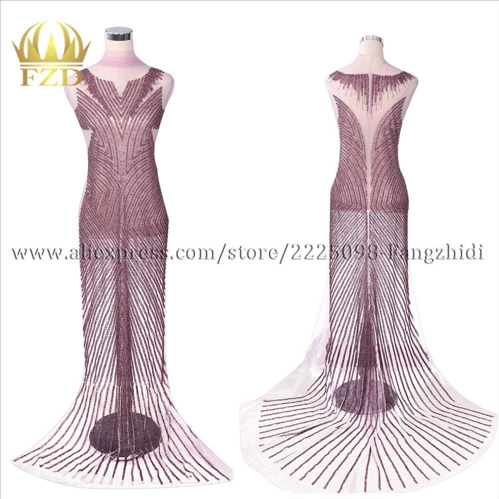 FZD 1 ensemble coudre sur la robe de mariée à la main patchs moulants perlé cristal strass corsage Patch pour bricolage femmes de mariée appliqué