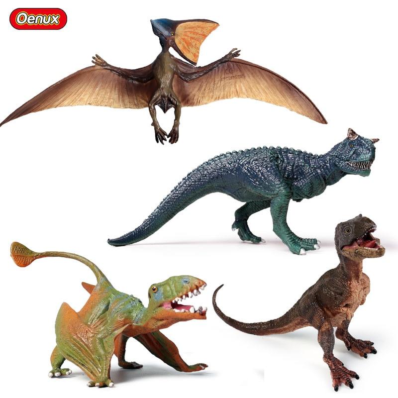 Oenux Prehistoric Jurassic Dinosaur Carnotaurus Figures Pteranodon Pterosauria T Rex Cub Model Action Figures Dinossauro Toys Action Figures Aliexpress