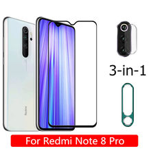 3-in-1 Camera Protector+Tempered Glass For Xiaomi Redmi Note 8 Pro Screen Protector Back Camera Metal Ring For Redmi-Note-8-Pro(China)