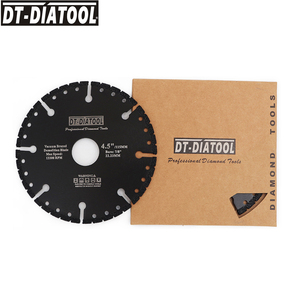 "Image 2 - DT DIATOOL  1pc Vacuum Brazed Diamond Cutting Disc Multi Purpose for Rebar Aluminum hard Granite Rescue Saw blade 4.5"" 9"""
