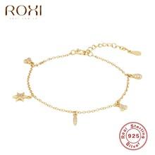 Roxiins – petit pendentif étoile trèfle, cadeau pour filles, Bracelets en or/argent Sterling 925, bijoux