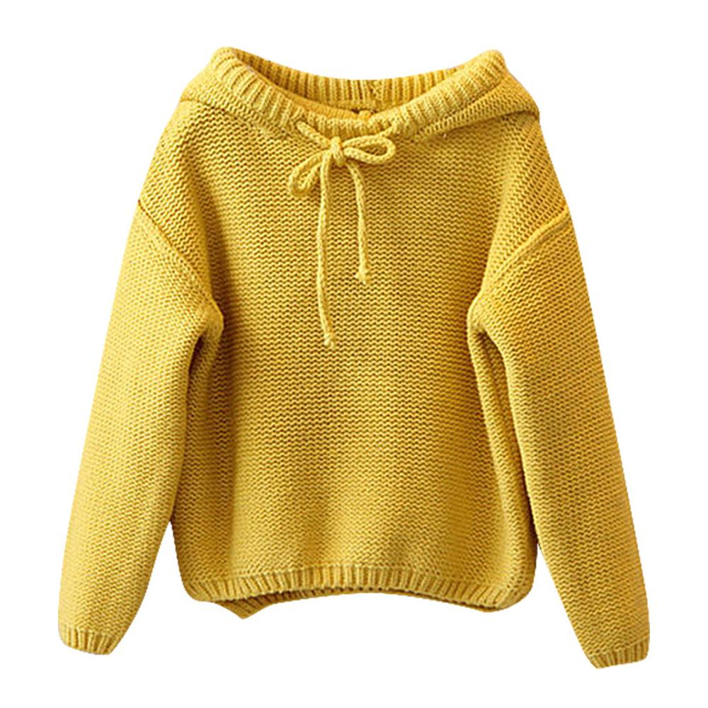 Image 2 - Kids Sweater Girls Boys Hooded Knit Crochet Long Sleeve Sweater Autumn Fashion Solid Tops Clothes Outfits For 2 6T ChildrenSweaters   -