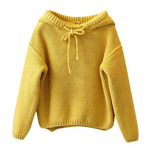 Image 2 - Kids Sweater Girls Boys Hooded Knit Crochet Long Sleeve Sweater Autumn Fashion Solid Tops Clothes Outfits For 2 6T Children
