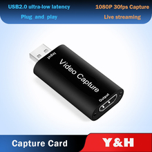 4K Video Capture Card USB 3.0 2.0 HDMI-compatible Video Grabber Record Box for PS4 Game DVD Camcorder Camera Live Streaming