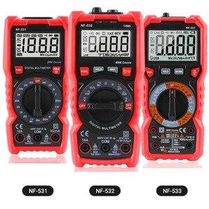 Noyafa NF-531 Цифровой мультиметр измеритель напряжения Обнаружение автомобильный электрический транзистор пиковый Тестер измеритель емкости
