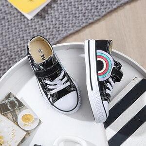 Image 4 - 2020 אופנה לפעוטות ילדים Unicorn בד סניקרס קשת גופר נעלי פוני פעוט נעלי ילדים גדולים נעלי בנות שטוח הנעלה