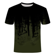 2021 new outdoor quick-drying 3D printing T-shirt round neck military camouflage men's and women's children's tops 100/6XL