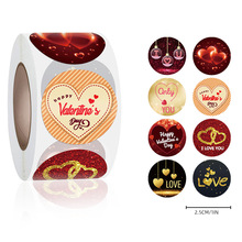 500pcs Valentine's Day Heart Sticker Rolls Love Heart Labels for Happy Valentines Day Gift Decoration Love Wedding Party Favors