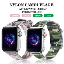 Hot Sell Nylon Watchband for Apple Watch Bands Series 4/3/2/1 Sport  Bracelet 42 mm 38 40mm 44mm Strap For iwatch Band