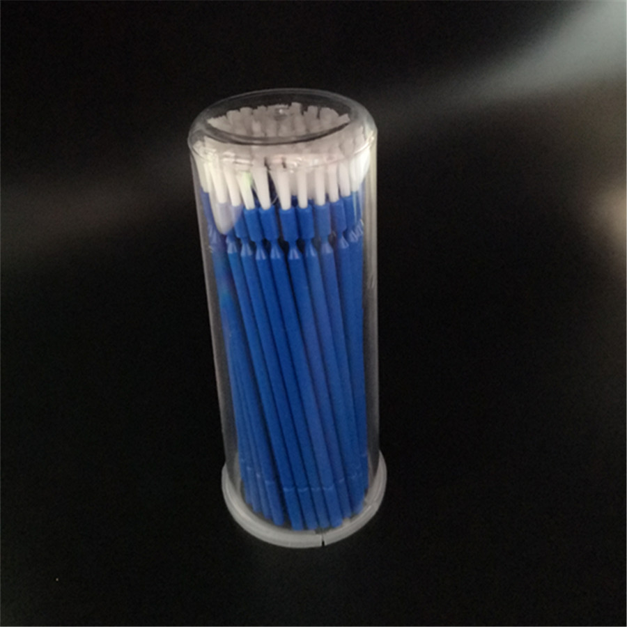 100 Pcs Dental Disposable Micro Brush Dupont Bristle Teeth Whitening Flexible Head Dentist Product With Box Red Blue 50*110mm