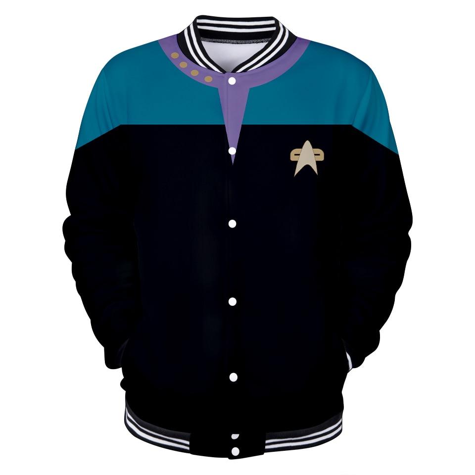 2019 fantascienza serie TV Star Trek: Short Treks cosplay 3D uniforme da Baseball uomo/donna Harajuku giacche da Baseball abbigliamento