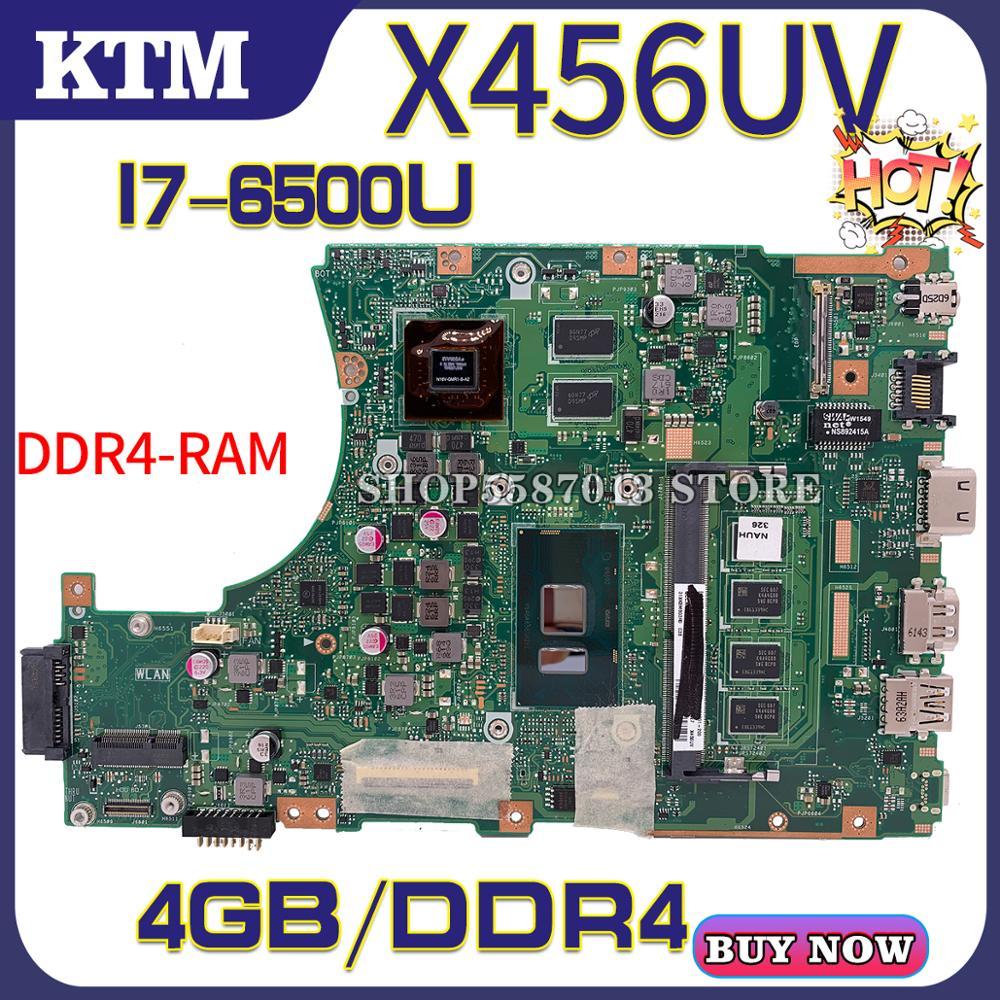 A456U For ASUS X456UJ X456UVK X456UB F456U X456UV Laptop Motherboard X456UQK Mainboard Test OK I7-6500u Cpu DDR4-4GB-RAM