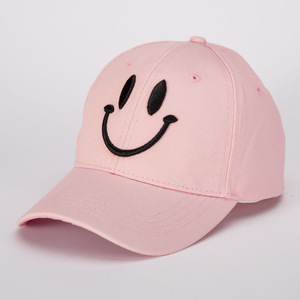 Image 2 - Korean version of fashion cotton baseball cap lady casual smiling face solid color hat spring and summer outdoor sunshade cap