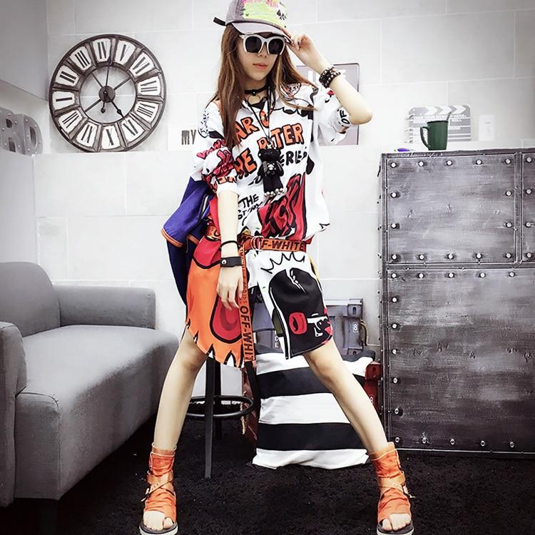 Harajuku Style Loose Casual Clothes Women Shirt Long Sleeve Tops New Fashion Autumn Spring Cartoon Print Women Shirt Tops SL529
