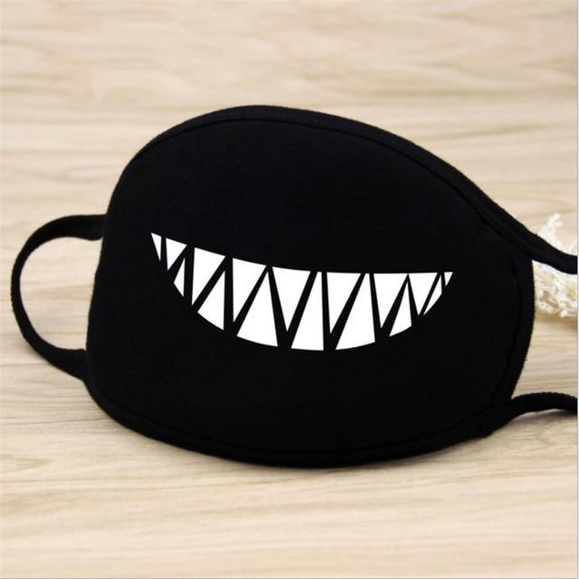 1pcs Mouth Face Mask Kawaii Black Cotton mascarilla High Quality Cartoon Halloween cosplay Mask Party Supplies-S 4